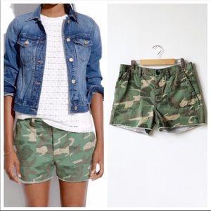 Madewell camo shorts